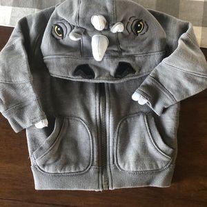 Boys 18 M rhino hoodie